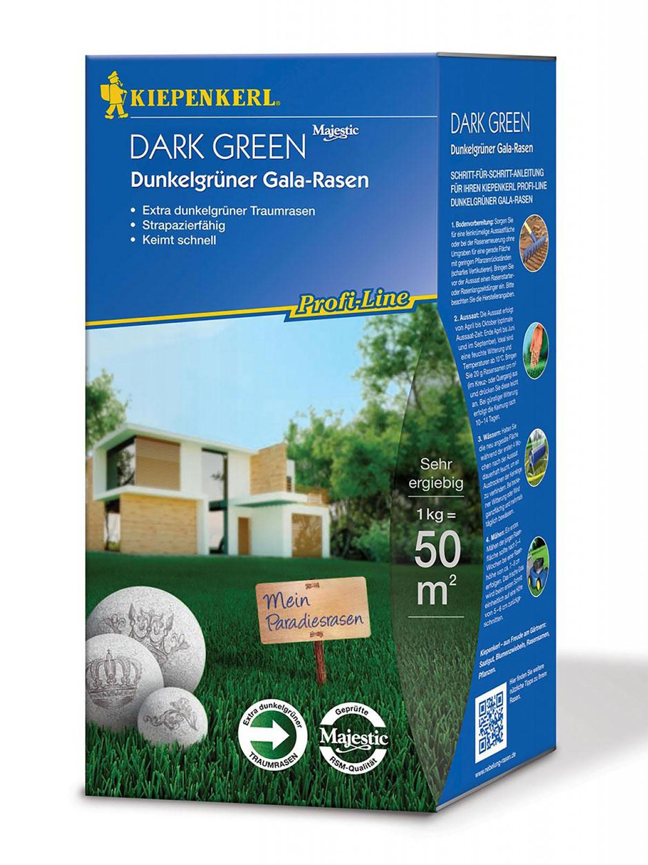 Dunkelgrüner Gala-Rasen Dark Green 1kg