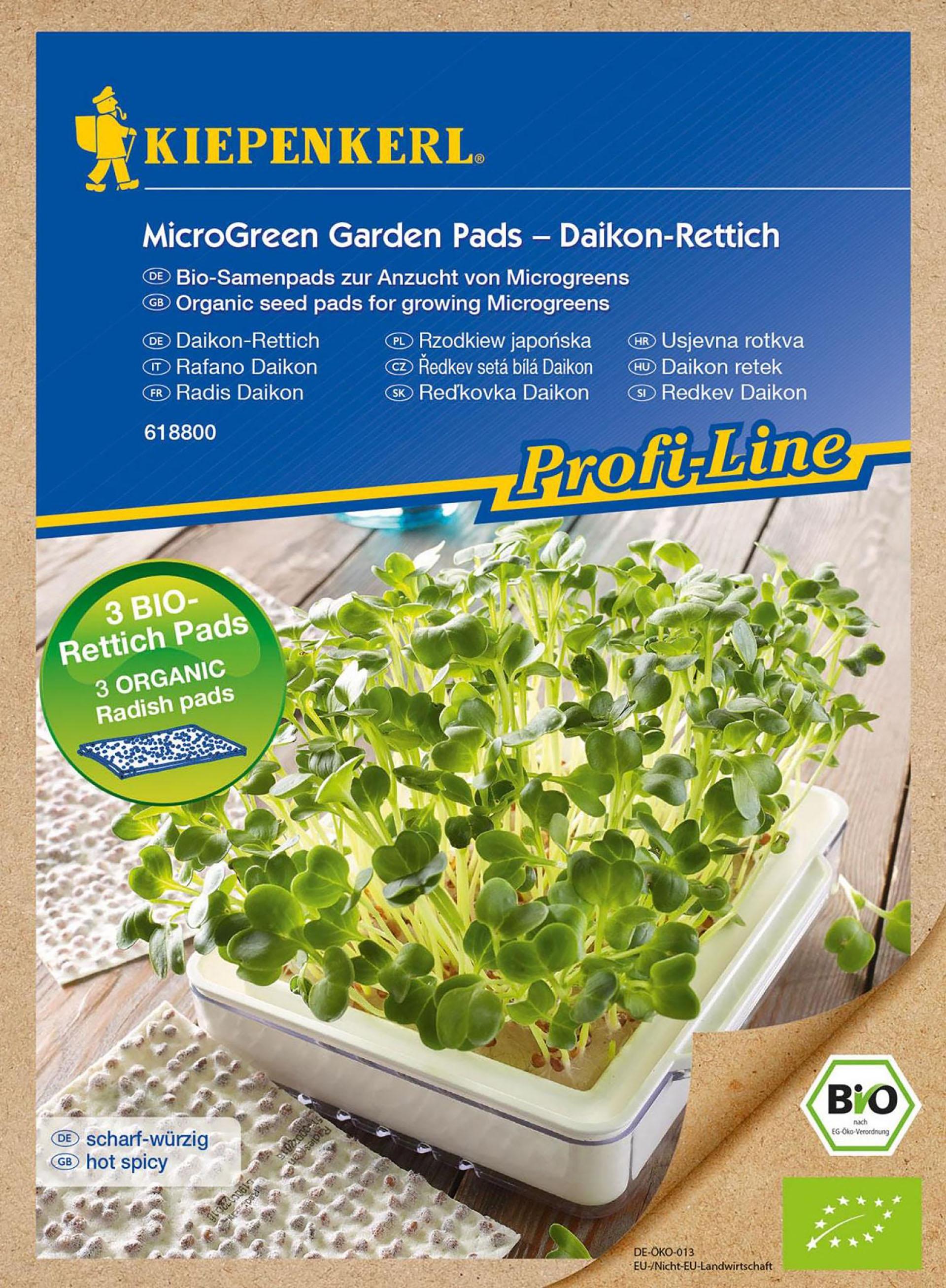 MicroGreen Garden BIO-Daikon-Rettich Nachfüllpads PG-N