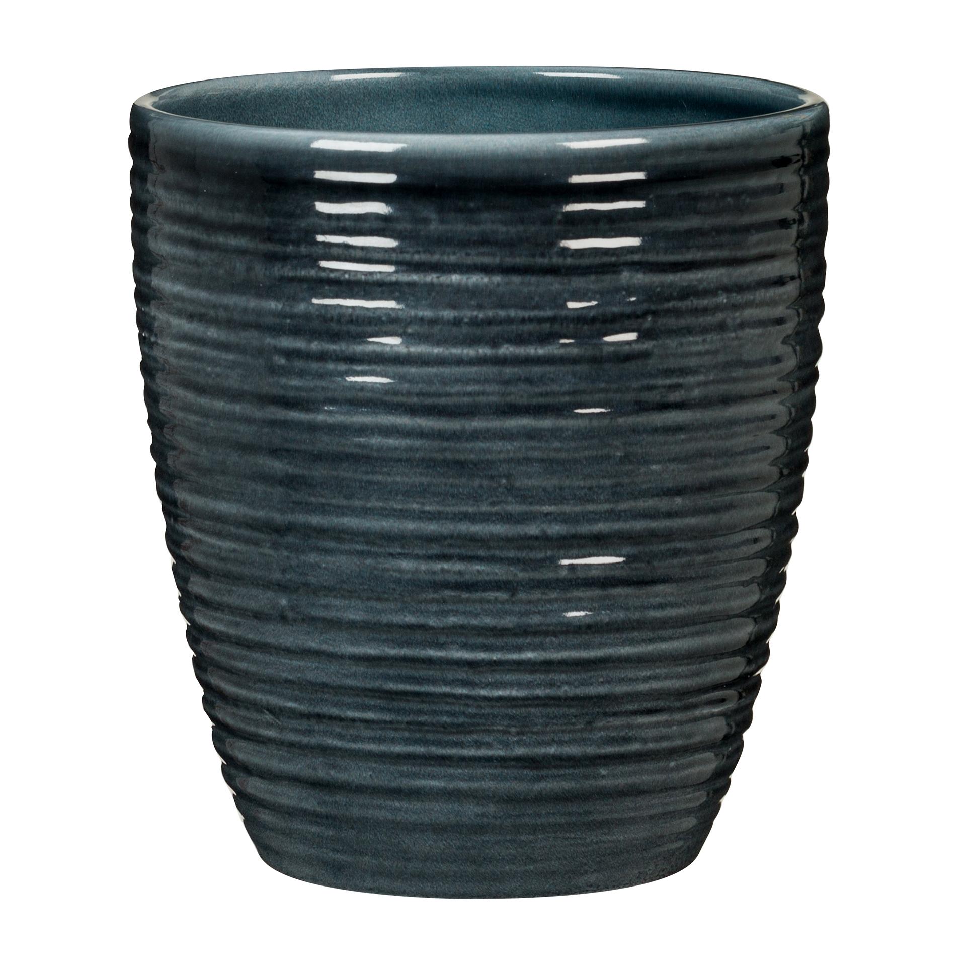 Orchideentopf Glass Petrol 669/14