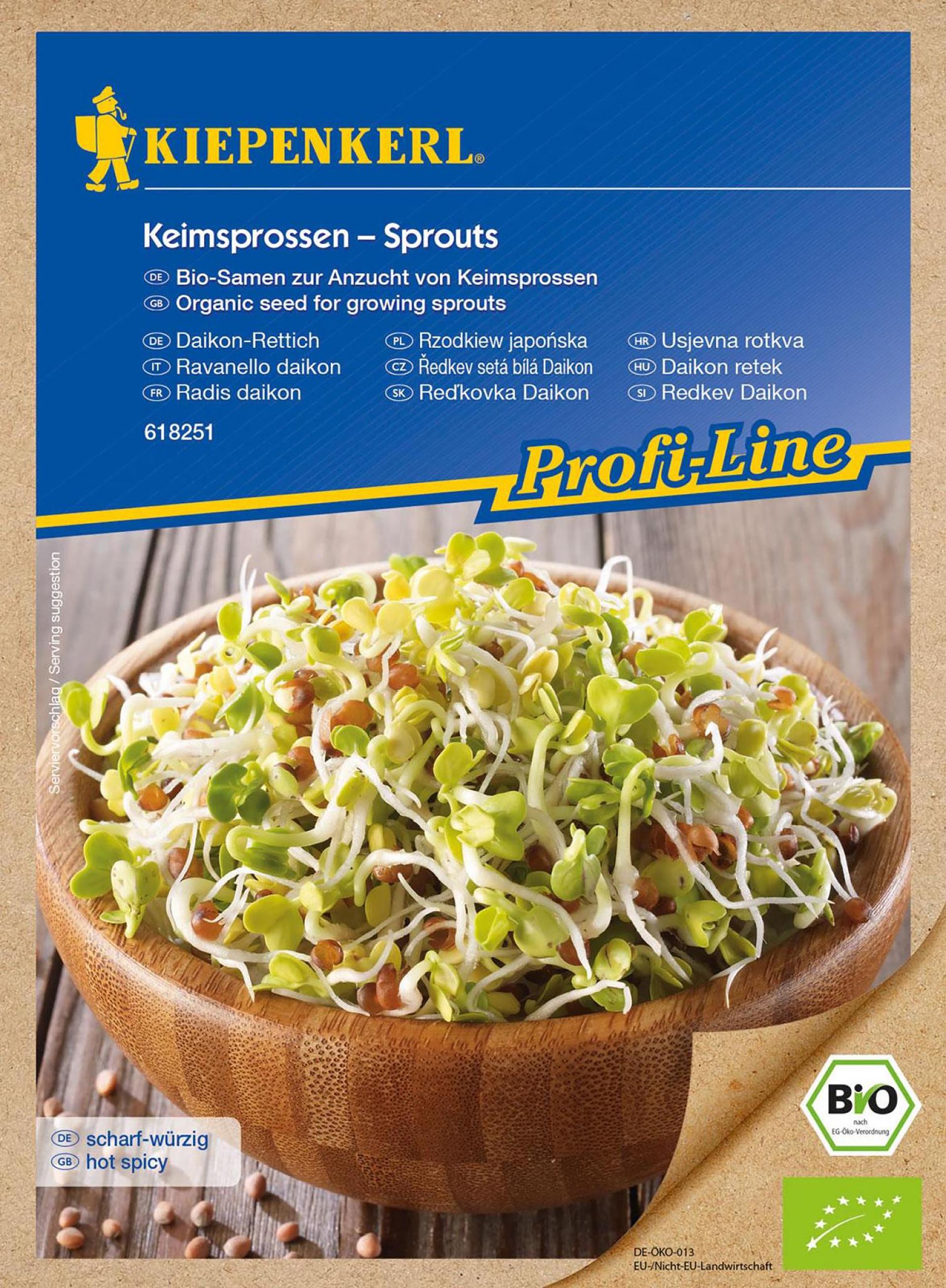 BIO-Keimsprossen Daikon-Rettich PG-O