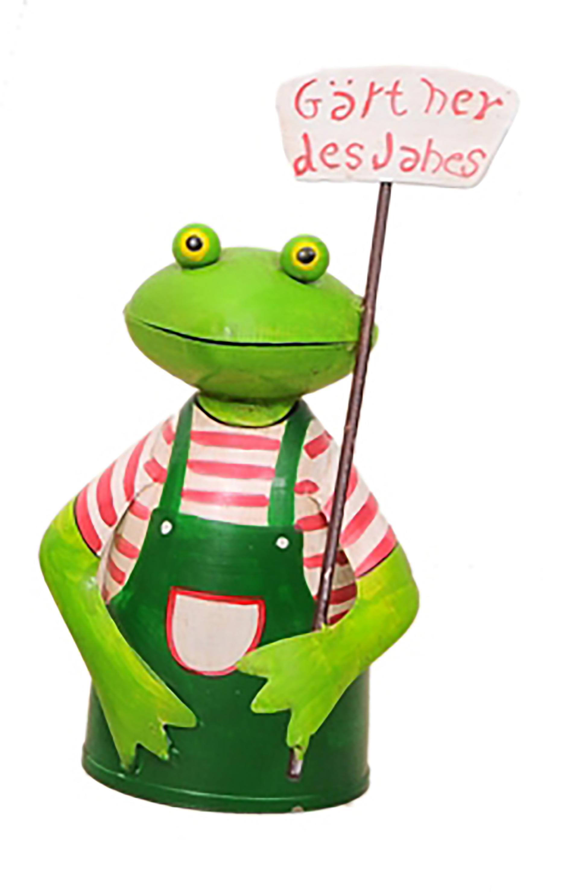 Zaunhocker Frosch, Schild Gärtner des Jahres