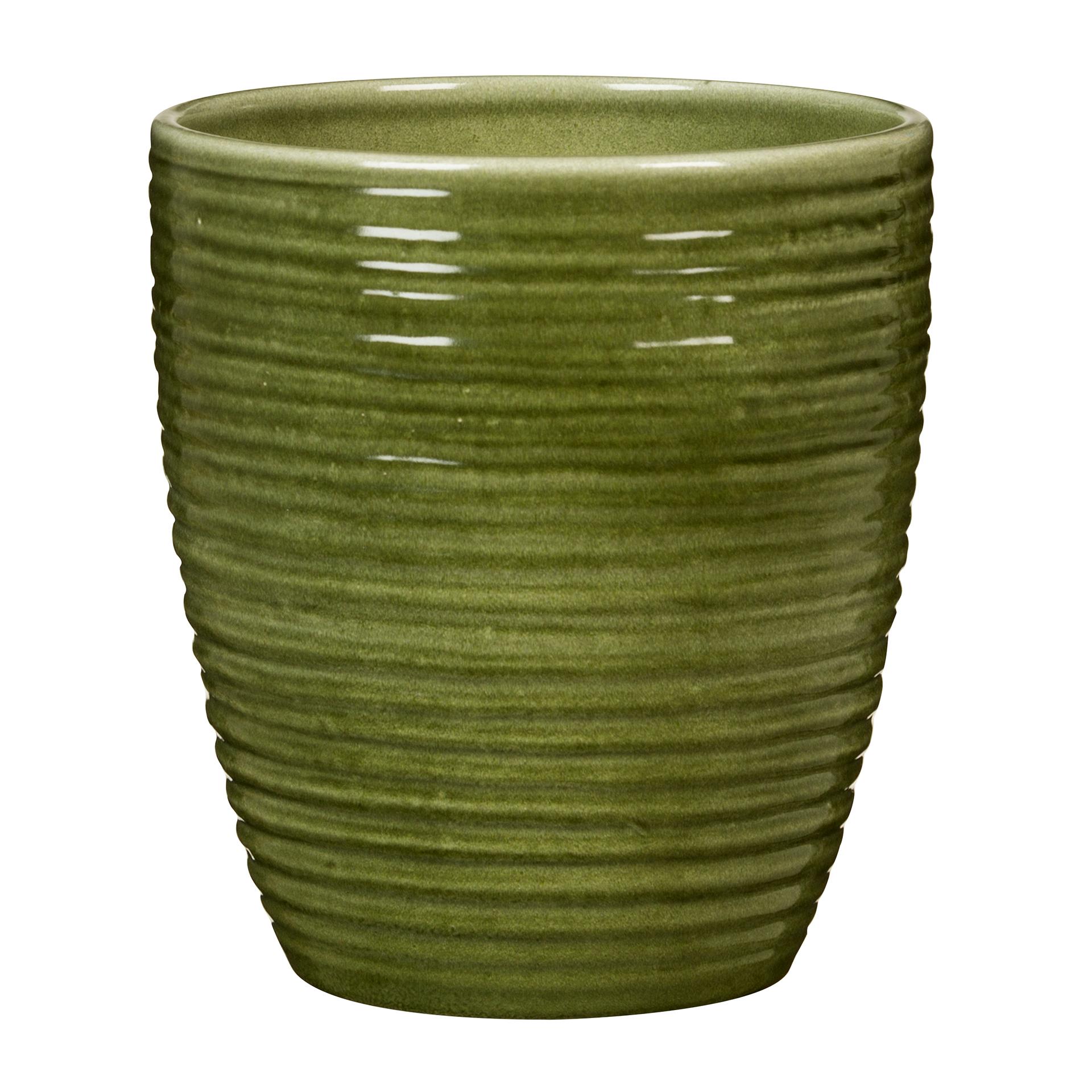 Orchideentopf Glass Olive 669/14