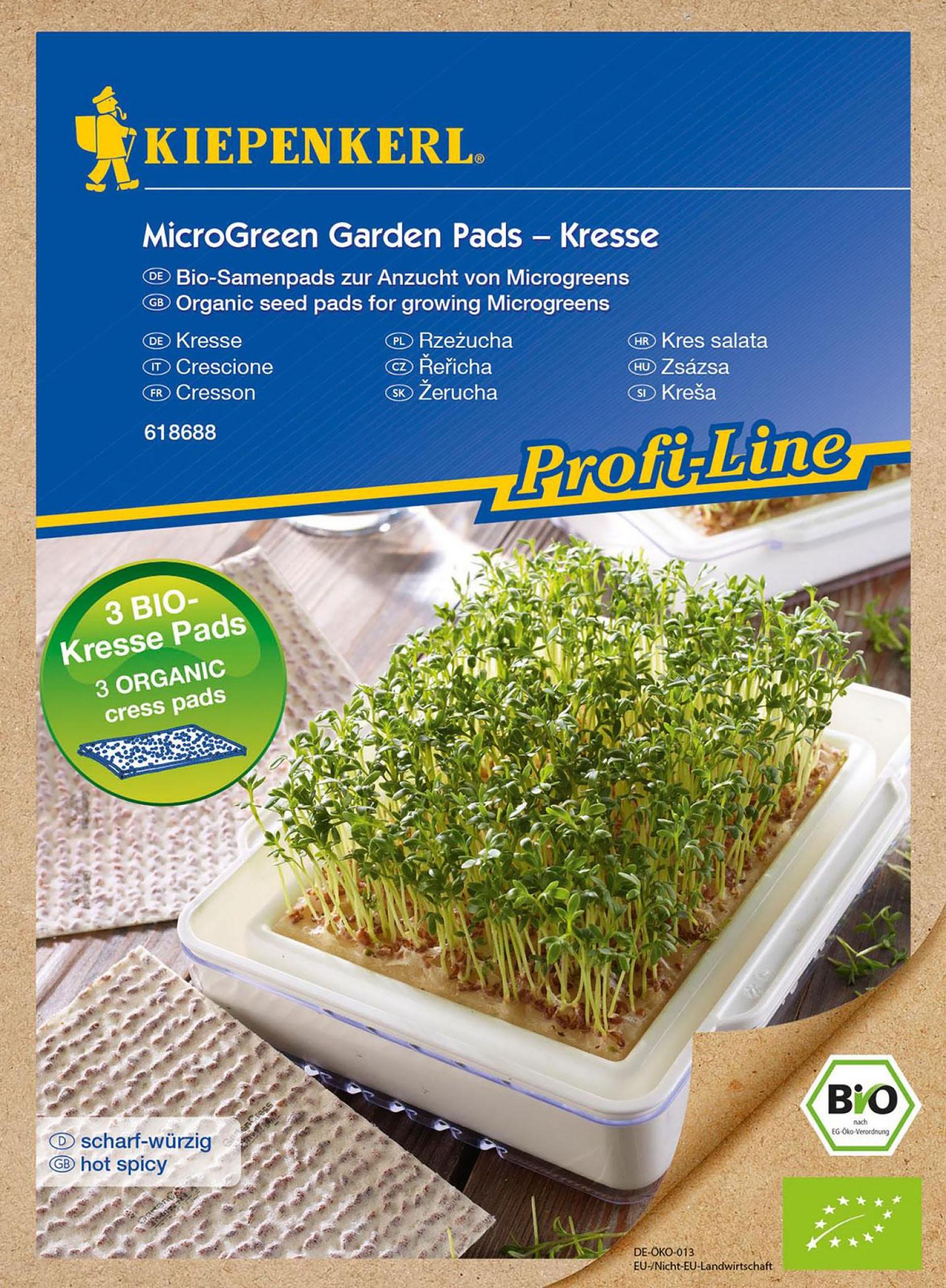 MicroGreen Garden BIO-Kresse Nachfüllpads