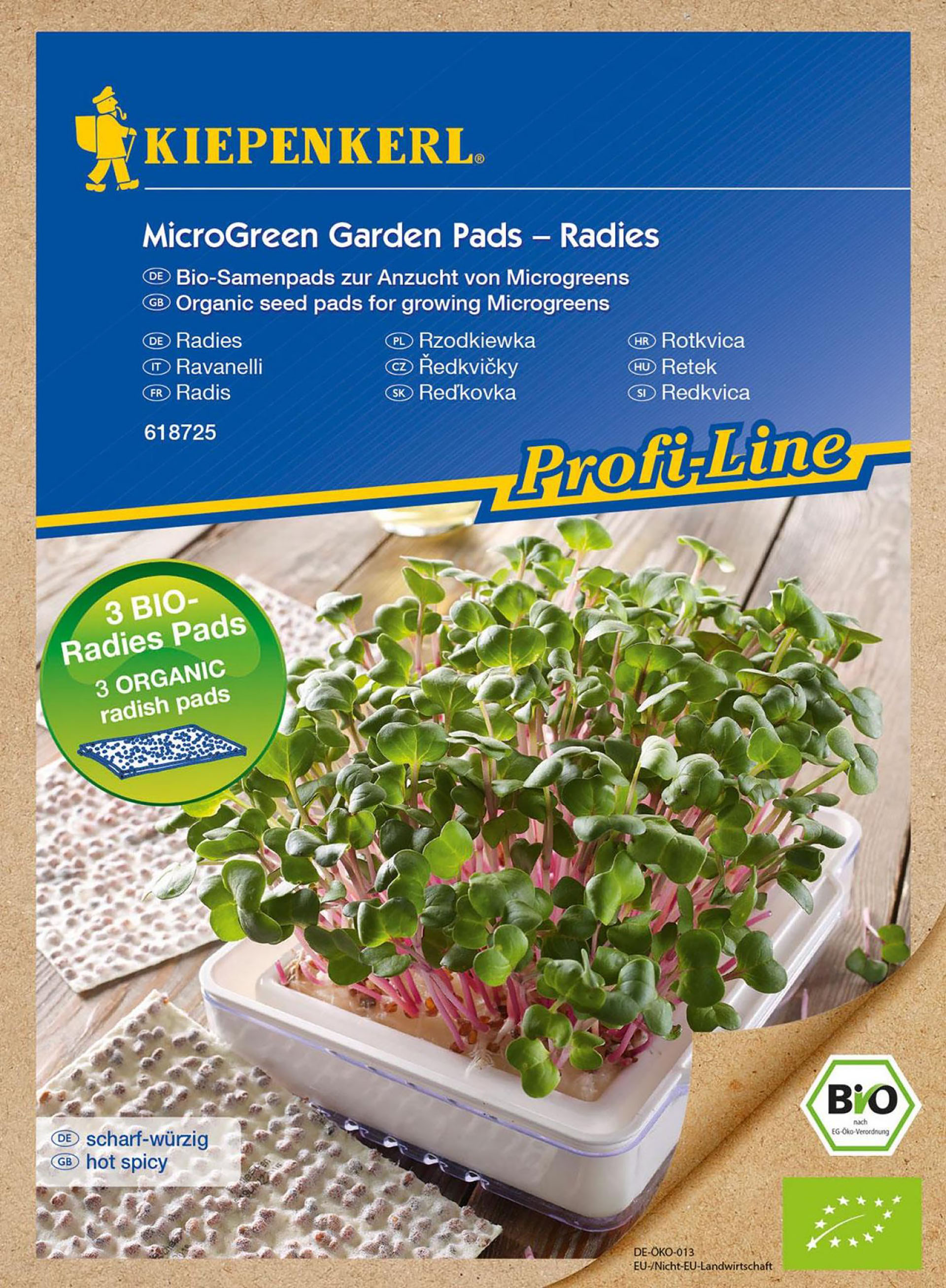 MicroGreen Garden BIO-Radies Nachfüllpads PG-N