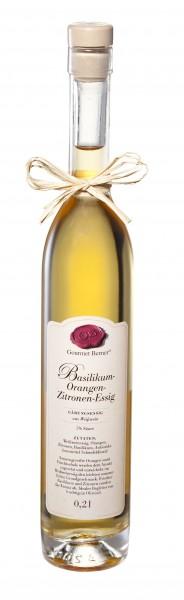 Gourmet Berner - Basilikum-Orangen-Zitronenessig
