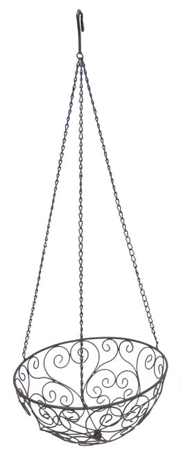 Hängeschale Floral Metalldraht 62/31cm