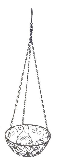 Hängeschale Floral Metalldraht 52/26cm