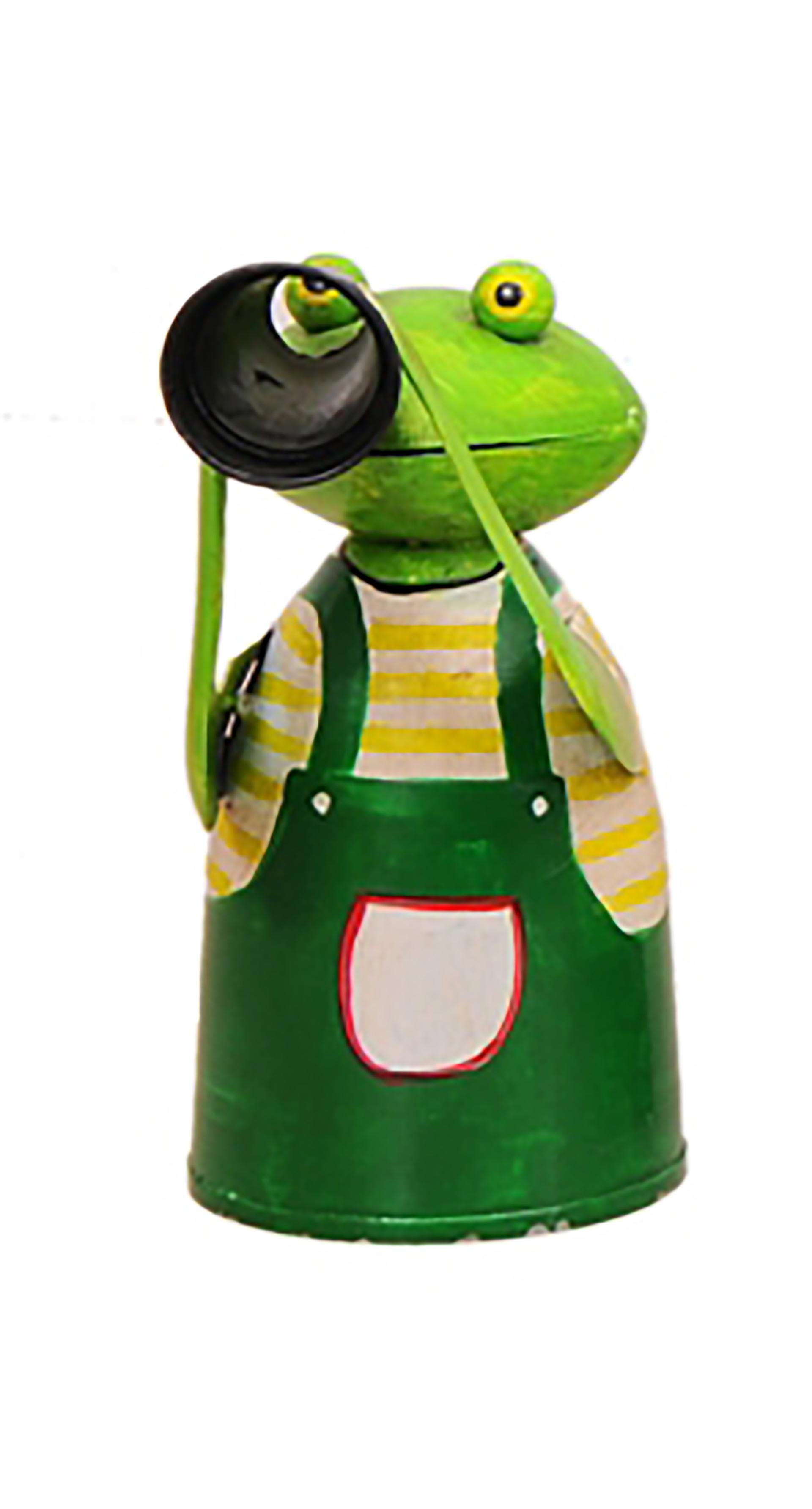 Zaunhocker Frosch, Gärtner mit Fernrohr