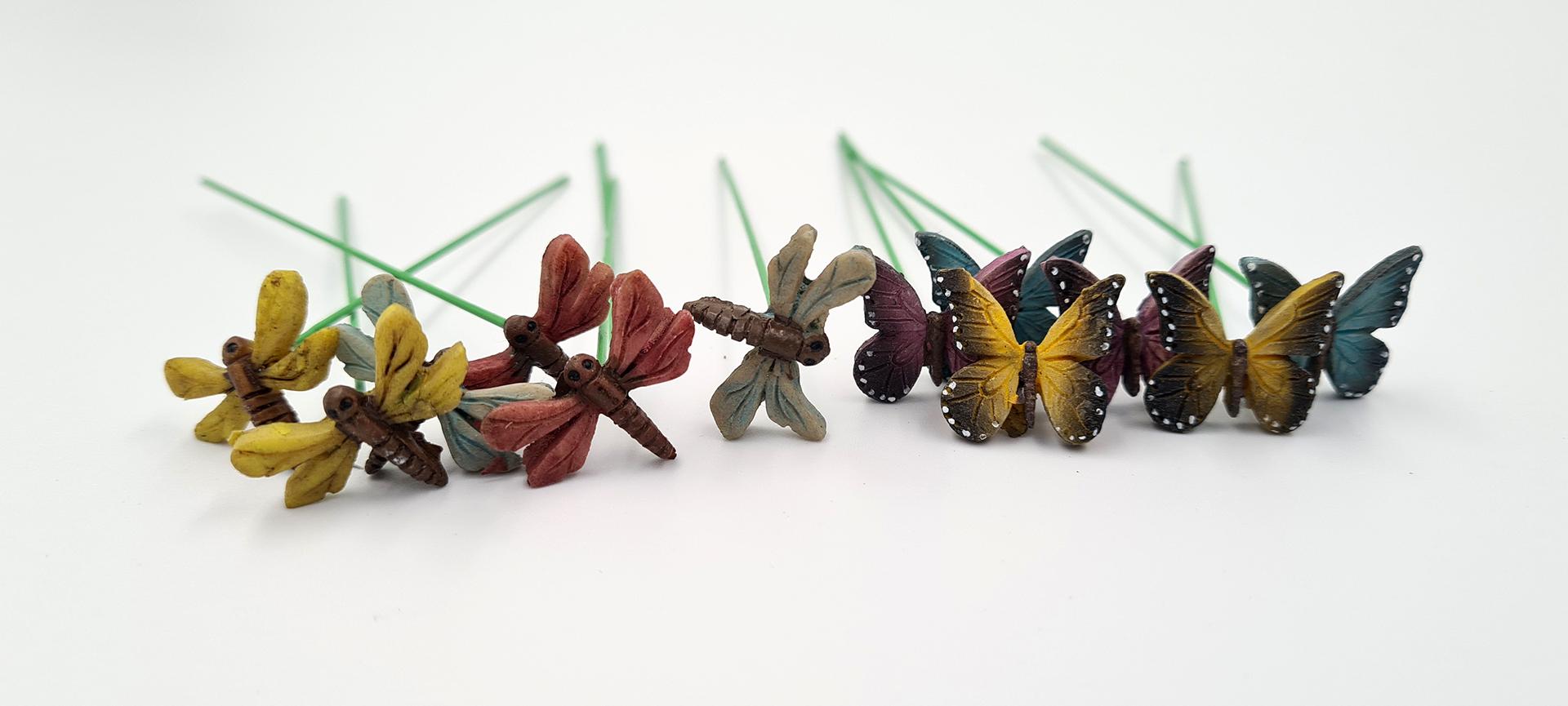 Deko-Schmetterlinge / Libellen, Set